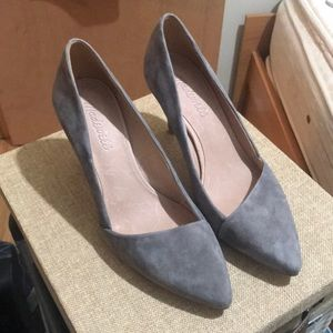 Grey pumps from madewell